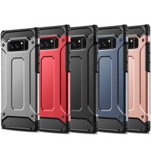 Heavy Duty Armor Shockproof Tough Hybrid Hard Rubber Silicone PC Phone Cover + Screen Protector For Samsung Galaxy S9 Plus Note 9 8 S8 Plus S7 edge