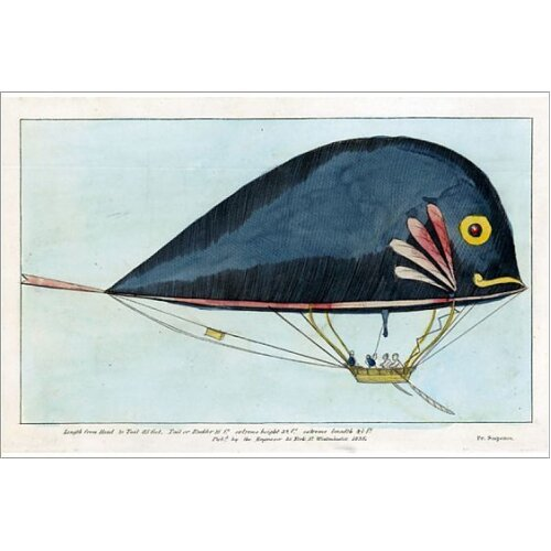 Dolphin airship by Jean Samuel Pauly and Durs Egg (Photographic Print)