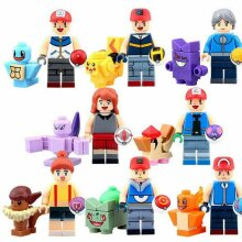 16Pcs Pokemon Go POKEMON Mini Figures PIKACHU Building Blocks Toy Kids