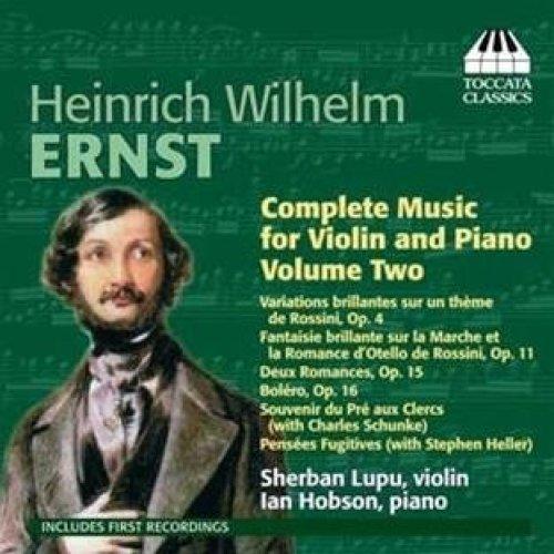 SHERBAN LUPU:IAN HOBSON - ERNST:VIOLIN/PIANO MUS VOL2 [CD]