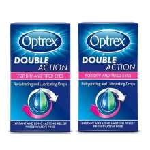 Optrex Double Action Drops for Dry & Tired Eyes 10ml (Pack of 2)