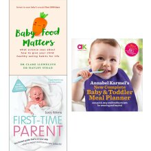 toddler, baby food, first time parent 3 Books Collection Set