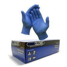 1 Box of 100 x Blue Disposable Nitrile Gloves Size Large