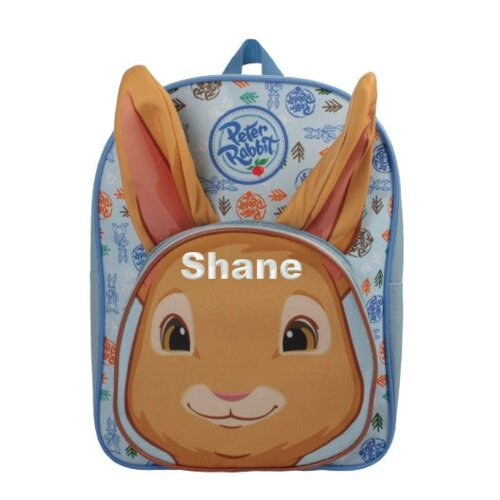 Personalised Embroidered Peter Rabbit Plush Backpack