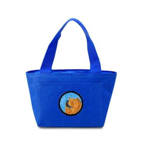 Blue Chow Chow Zippered Insulated School Washable And Stylish Lunch Bag Cooler