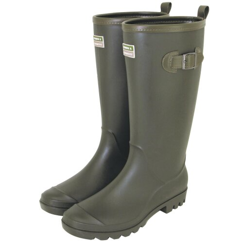 Town & Country Wellington Boots, Lightweight PVC - Green - The Burford - Size 11
