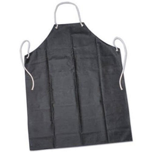 Ability One 6345023 35 x 45 in. Laboratory Apron One Size Fits Most Rubber, Black