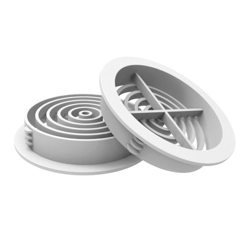 10 x White Plastic 70mm Round Soffit Air Vents, Push in Roof Disc
