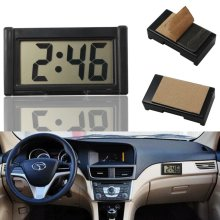 Auto Date Car Digital Clock LCD Screen Self-Adhesive Bracket Desk Dashboard