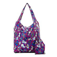 DOGS AND CATS print foldaway shopping bag