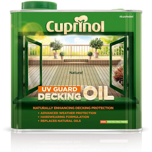 Cuprinol UV Guard Decking Oil 2.5L Natural