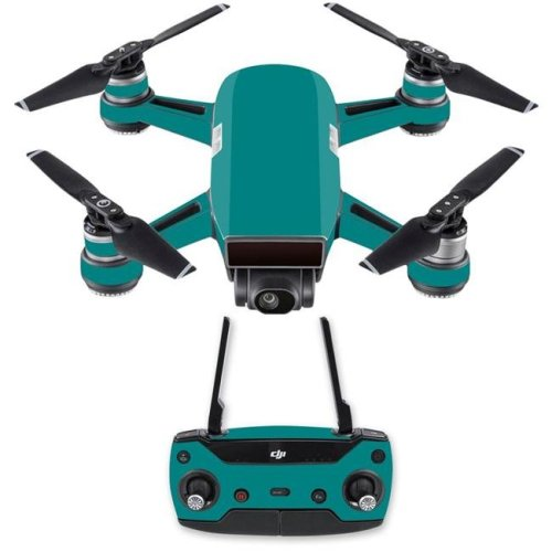 Mightyskins DJSPCMB-Solid Teal Skin Decal for DJI Spark Mini Drone Combo Sticker - Solid Teal