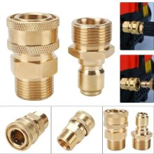 "3/8"" Male To M22 Male Fitting Set Pressure Coupling Quick Release"