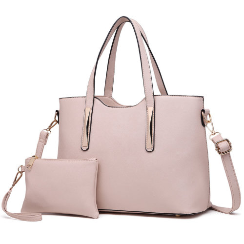 Miss Lulu Women's Handbag Shoulder Bag & Mini Pouch Beige
