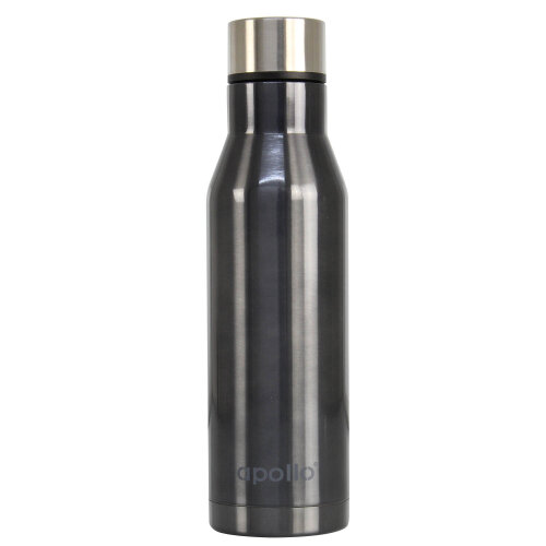 750ml Black Stainless Steel Vacuum Flask Water Bottle Hot & Cold Double Walled