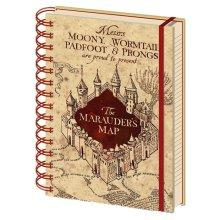 Harry Potter Marauders Map Hardback Wiro A5 Notebook