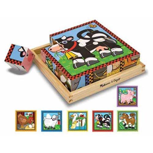 Melissa and Doug 775 Farm Cube Puzzle