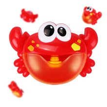 Musical Bubble Machine Crab Baby Children Bath Bathtub Shower