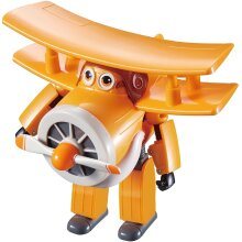 Super Wings YW710260 Transforming Vehicle | Series 1 | Grand Albert | Plane | Bot | 5' Figure, Orange/White