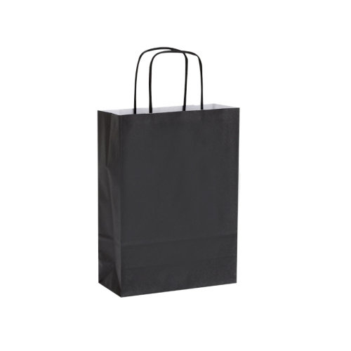 (18x8x24cm, Black) Party Bags / Gift Bags, Kraft Paper Twisted Handle