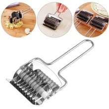 Kitchen Stainless Pasta Noodle Maker Machine Roller Docker Dough Cutter Tool