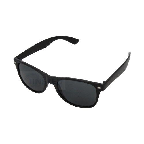 Adult Black Frame Sunglasses Black Tinted Lens AW004