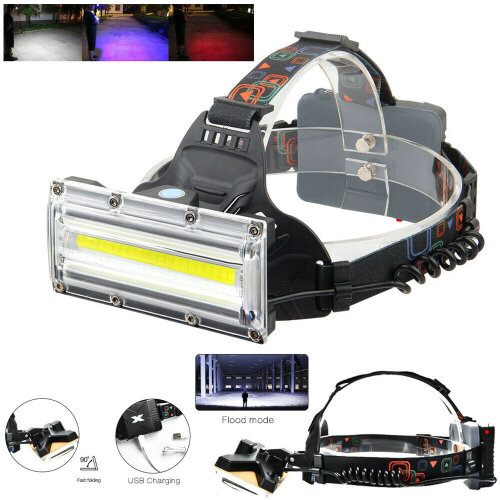 USB Rechargeable LED Headlamp Head Torch Flashlight Headlight Work