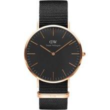 Daniel Wellington Cornwall DW00100148 Fabric Watch Black Man