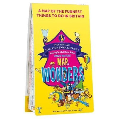 ST&G's Amazingly Adventure-Filled Great British Map of Wonders   Sheet map, folded
