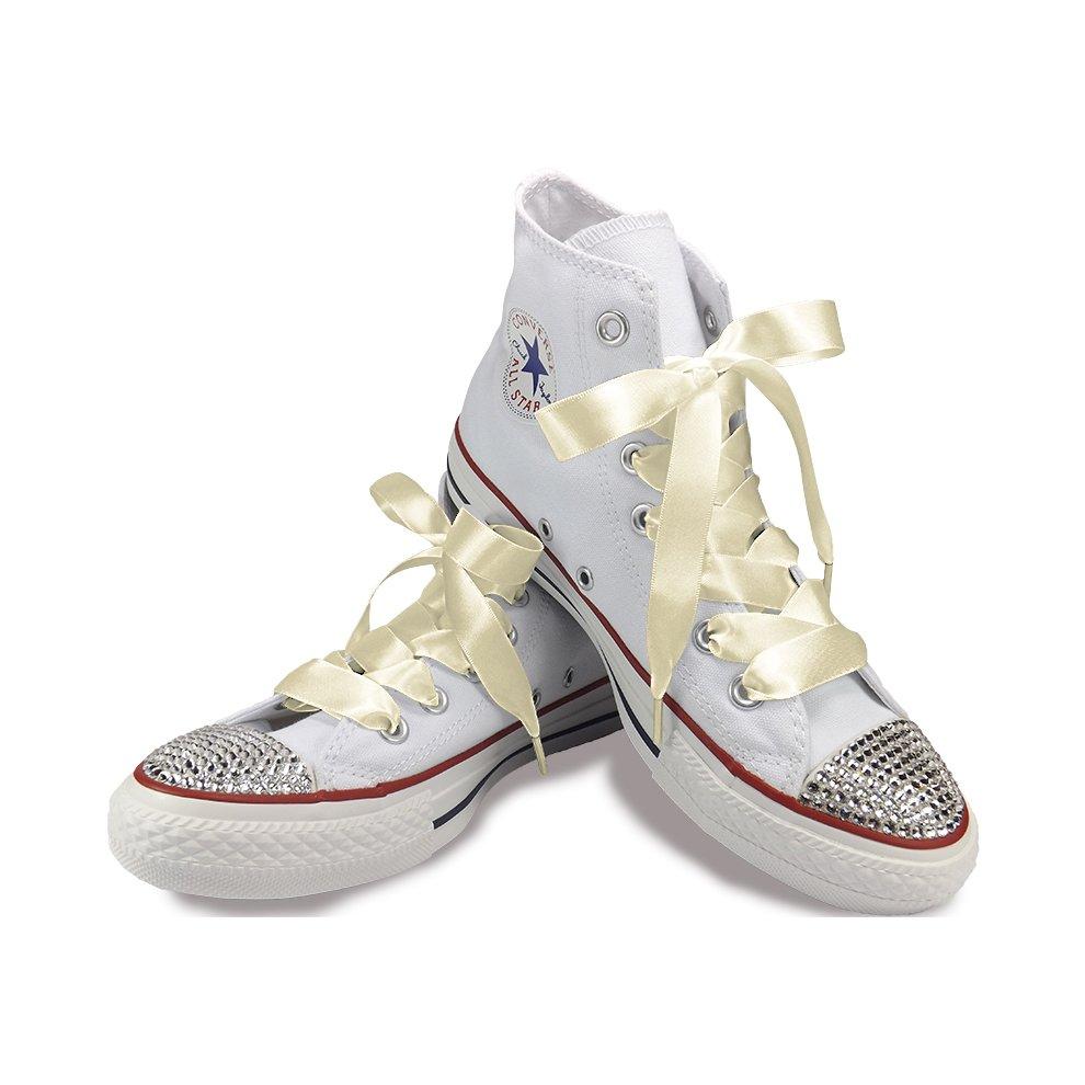 Ivory Cream Ribbon Shoelaces For