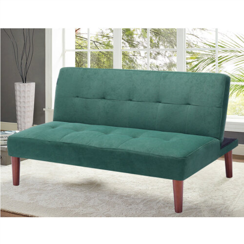 (Green) Sofa Bed Small Couch Settee Loveseat Sleeper Recliner Beds