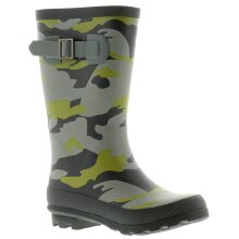 Rockstorm Camouflage Boys Kids Wellies Wellington Boots Green Camo UK Size