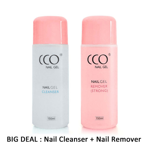 CCO UV LED Soak Off Nail Gel Remover And Cleanser 150ML Bottles