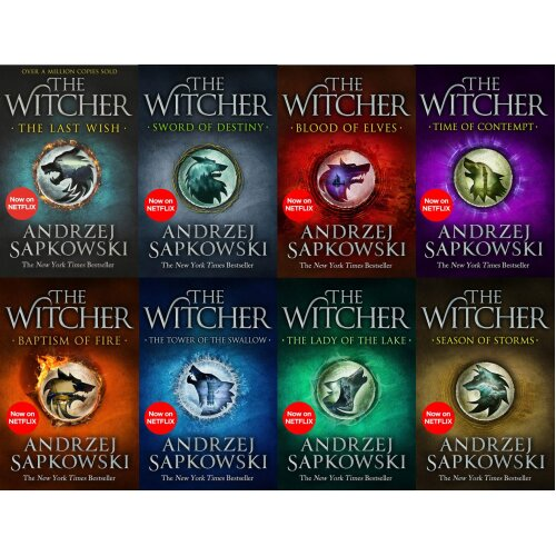 The Witcher Series Andrzej Sapkowski 8 Book Set Collection