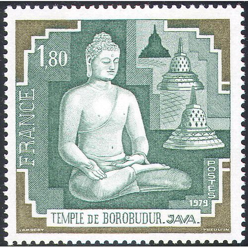 France 1979 Buddha/ Temple/ Statue/ Buildings/ Architecture/ Religion/ Conservation/ Preservation 1v (n42756)