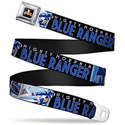 Seatbelt Belt - Power Rangers - V.43 Adj 24-38' Mesh New pra-wpr048