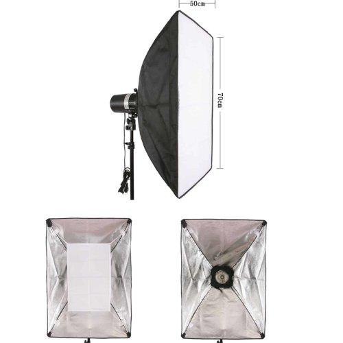 Studio Speedlite Softbox Strobe Flash Portable Soft Box Reflector with Speedring Universal Mount And Carrying Bag - 50x70cm
