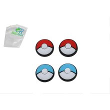 Pokemon POKEBALL Thumb Grips For Nintendo Switch Joy-Con and Switch Lite - Rubber Silicone Protective Cover Pads - (4 Pack)