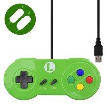 USB Controller Gaming Joystick Gamepad Controller For Nintendo SNES Gamepad Green