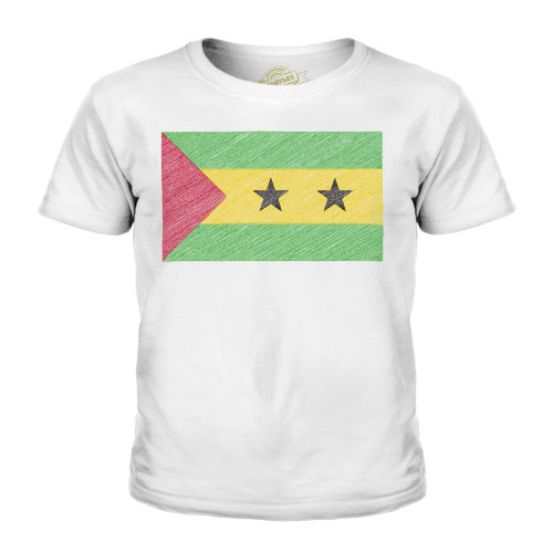 Candymix - Sao Tome E Principe Scribble Flag - Unisex Kid's T-Shirt