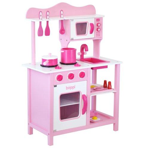 boppi® Wooden Toy Kitchen with 19 Piece Accessories Set