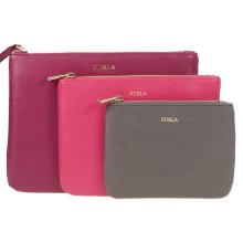 Furla Bags Leather Clutch Bag & Purse Set Of 3