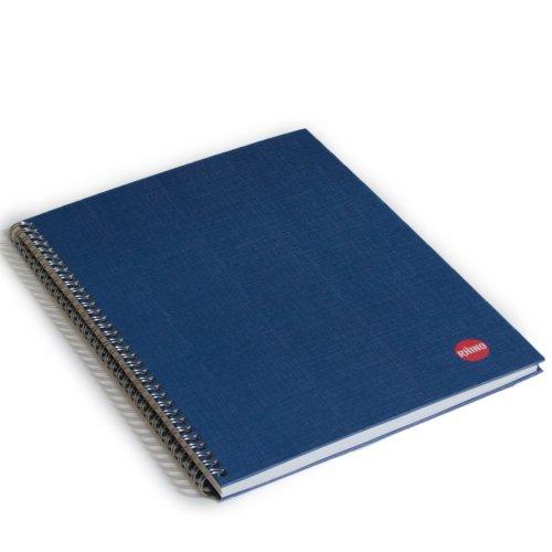 RHINO A4 Ruled Twin Wired Hardback Notebook - Blue