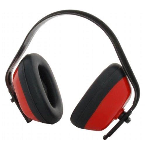 Zenport EM101-10PK Standard Ear Muffs Red Black, Box of 10