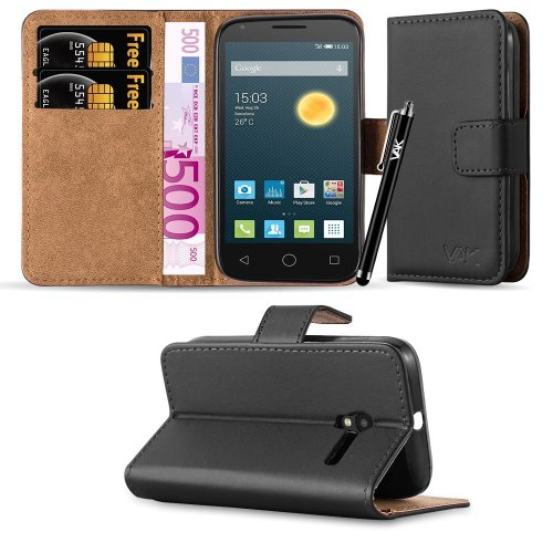 For Alcatel Pixi 3 (3.5 Inch) Leather Wallet Case