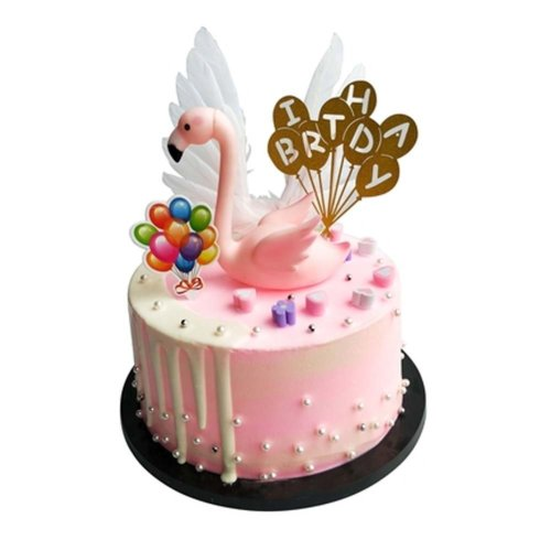 Stupendous Simulation Cake Creative Birthday Cake Model Pretend Flamingo Cake Funny Birthday Cards Online Hendilapandamsfinfo