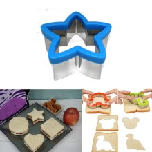 Kids Sandwich Cutter Star Shape Cookie Biscuit Pastry Baking Stainless Steel