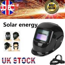 Welding Helmet Mask Auto Darkening Tig Mig Grinding Solar Powered UK