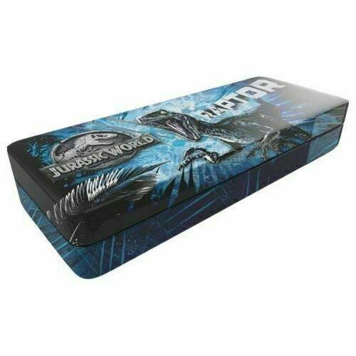 Jurassic World Raptor TIN Pencil Box