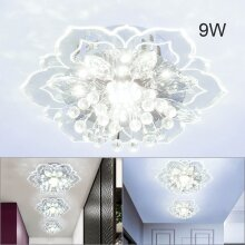 9W MODERN CRYSTAL LED CEILING FIXTURE PENDANT LAMP LIGHTING CHANDELIER